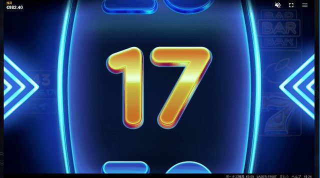 レーザー・フルーツのフリースピン回数はルーレットで決まる